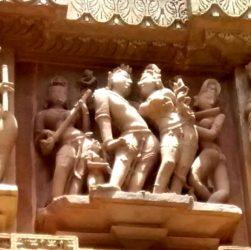 love making posture of Khajuraho