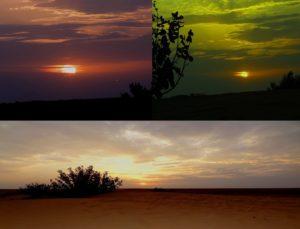 Sun set at Thar desert