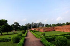 Ancient nalanda university compound