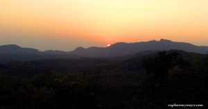 Sun-set view from Rajendragiri park at Pachmarhi