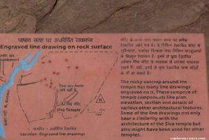 construction drawing at Bhojpur temple