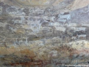 cave paintings of UNESCO site of Bhimbetka