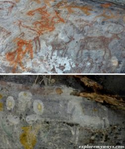 cave paintings at Bhimbetka rock