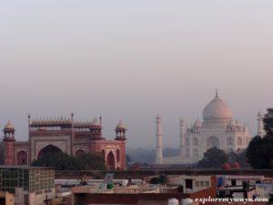 A beautiful view of Great Taj Mahal