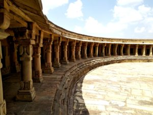 chausath Yogini temple at Mitavali village near Gwalior