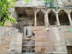Jain rock cut sculptures of Gopachal Parvat Gwalior