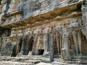 rock cut sculptures of Gopachal Parvat