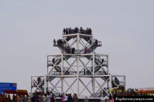 watch tower at white desert kutch