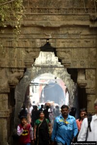 carvings Uparkot fort of Junagarh