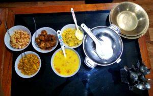 Organic food at Phenzong homestay