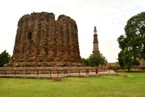 Minar of Alaudin Khilji inside Qutub Complex