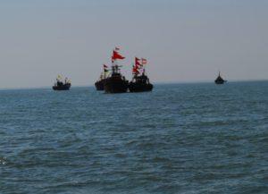 Sea of bet Dwarka