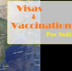 visas vaccinations India trip